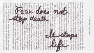 El miedo paraliza la vida